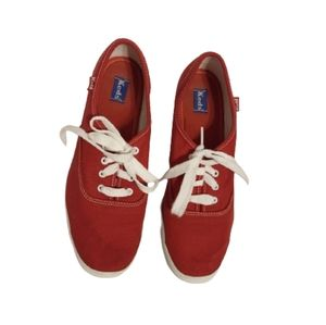 Keds Women Red Champion Shoes Size 8